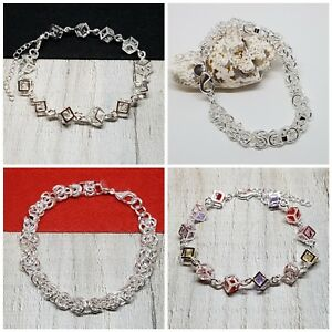 Friendship-Bracelet-Charm-Silver-Plated-Women-Jewellery-Gifts-for-Her-Xmas