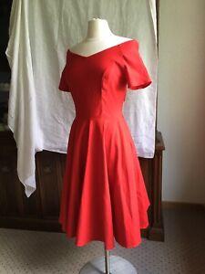 Belle Poque Womens 1950s Vintage V Neck Sleeveless Cocktail Swing Dress