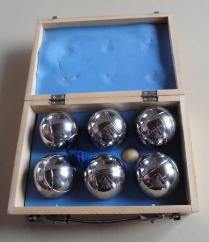 Boule Set Boule Boccia Spiel Boulekugeln Bocciakugeln im Holzkoffer