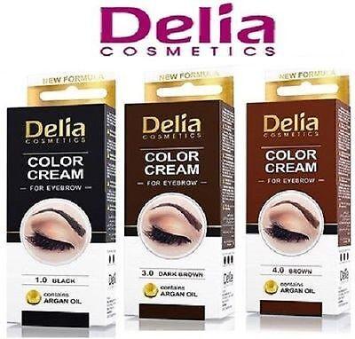 DELIA-HENNA-COLOR-CREAM-EYEBROW-PROFESSIONAL-TINT-KIT-SET-Brown-Black-DARK-BROW