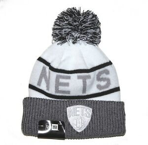 9141998343e Brooklyn Nets New Era NBA Court Force Cuffed Beanie with Pom Knit ...