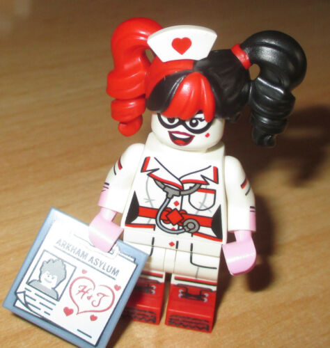 Sammelfigur Nurse Harley Quinn selten Lego Serie Batman Movie 71017
