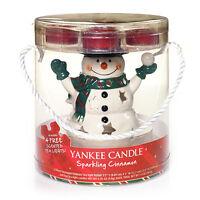 Newyankee Candlesnowman Luminary Ceramic Tea Light Gift Setsparkling Cinnamon