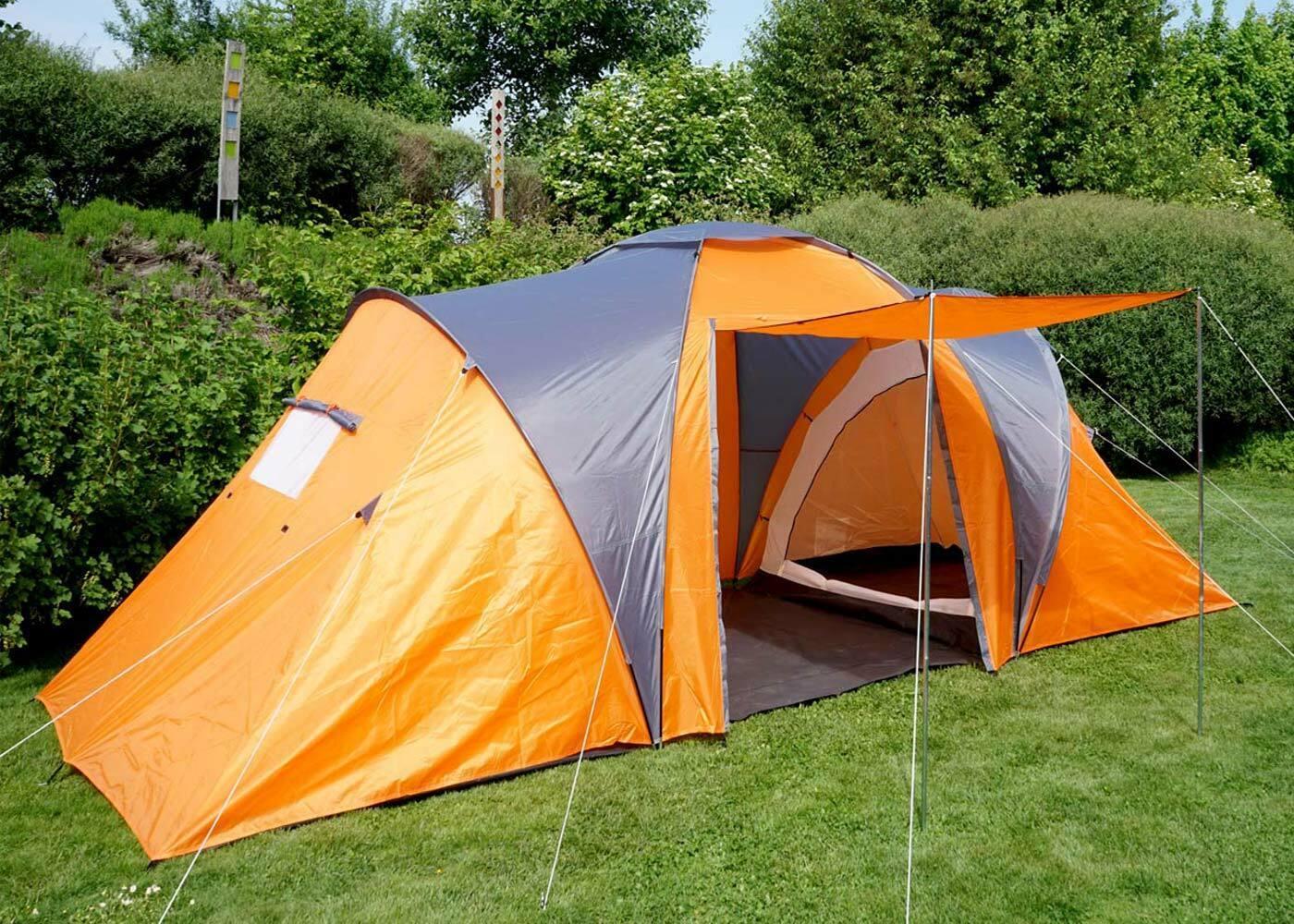 Tenda da campeggio Loksa, 4uomo Cupola Tenda Igloo Tenda FestivalTenda, 4 persone ARANCIONE