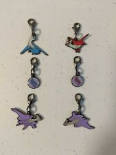 8pc Pokemon Keychain Lot Metal Enamel Filled USA