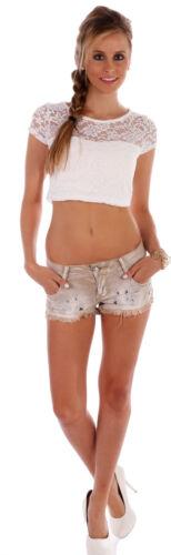Pocket mit dekorativen Details Damen Jeans Short 5