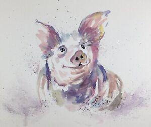 PIG-PORTRAIT-ORIGINAL-PRINT-OF-WATERCOLOUR-BY-DIANE-ANTONE-IDEAL-XMAS-GIFT