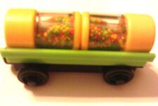 Thomas & Friends Wooden Railway Green Barrel Car W/2 Fish Food Barrel of food LC