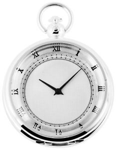 Modern Pocket Watch White Silver Analogue Quartz Metal Men's Fob Watch W-60547185608575 With The Best Service Watches, Parts & Accessories