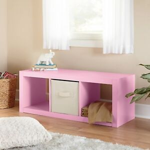 Details about Better Homes and Gardens Furniture 3-Cube Organizer Storage  Bookcase Pink
