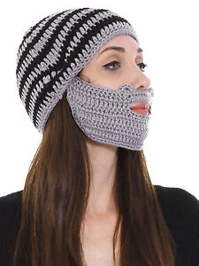Beard Beanie Knit Beard Outdoor Hat Mustache Face Mask Winter Warm ... f1c60208955