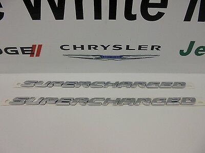 Dodge Chrysler Jeep Mopar Challenger Hellcat Supercharged 3D Emblem Set of 2 New