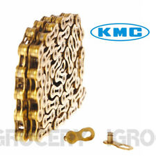 KMC CHAIN X9SL 9S 6.6mm GOLD 265G SUPRLGHT HOLLOW PIN 116L