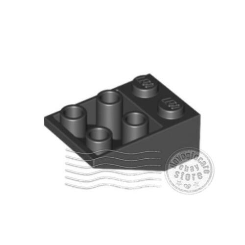 4x LEGO 3747b Inclinato inverso 33 3x2 Nero374726