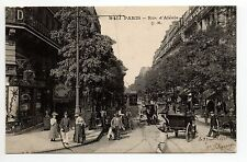 PARIS CPA 75 la rue d'alésia