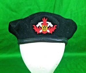 Image is loading German-Fireman-Beret-Hat-8473-Teunz-Firefighter-Brigade- 828cb2ddb74