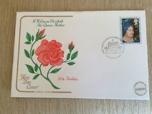 Post-Office-First-Day-Cover-Her-Majesty-Queen-Elizabeth-The-Queen-Mother