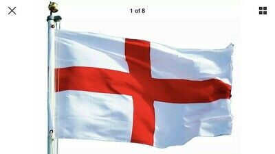 England Flag St George Cross Eyelets Flags  5FT X 3FT English Football Rugby Day
