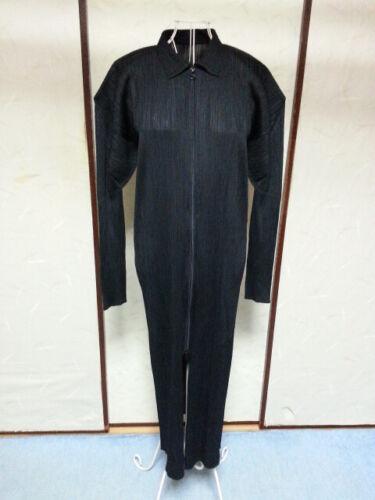 Black Zipper Dress PLEATS PLEASE Issey Miyake VG