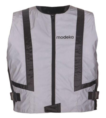 Modeka doc silver taille XL Gilet Moto leuchtweste extrêmement Réfléchissant