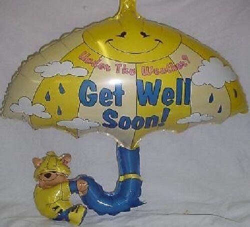 """26 /""""get well soon parapluie en forme de feuille de ballon-BL256"""