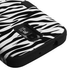 Samsung Galaxy S2 T989 T-Mobile T Armor Hybrid Case Skin Cover White Zebra