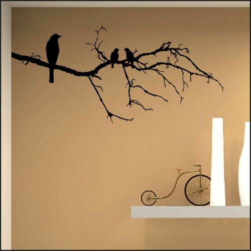 LARGE BIRD BIRDS ON BRANCH TWIG WALL ART MURAL STICKER TRANSFER DECAL