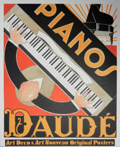 """Pianos"" Lithographic Poster by Andre Daude"