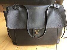 Authentic Louis Vuitton Lockme MM black calfskin leather handbag