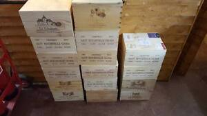 Details About 1 X 6 Bottle With Lid Genuine French Wooden Wine Crate Box Christmas Gift Idea