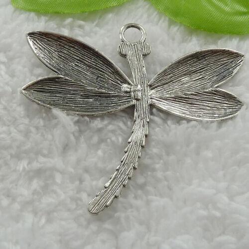 Free Ship 32 pcs tibet silver dragonfly charms pendant 67x59mm B816