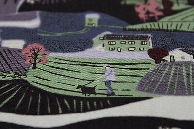 SALE!!! 100% Cotton Makower's 'Landscape' Print Fabric Material (Muted Mauve)