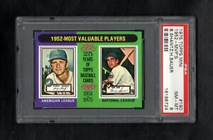 1975-TOPPS-MINI-190-1952-MVP-039-S-SHANTZ-SAUER-PSA-8-NM-MT-CENTERED