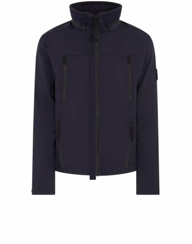 In Soft Waterproof Navy Stone Island Shell And Blue Jacket Windproof q0722 r aWXO5w