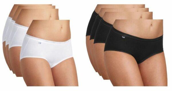 Sloggi Basic+ Midi Damen Slips 4er Pack Premium Comfort
