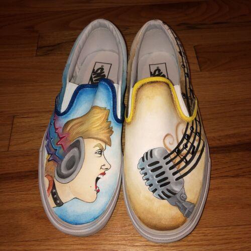 d79d19bf91e32b para tema 9 sobre pintada hombres de zapatos Vans 5 10 personalizada el  música mujeres 8v54twwxq