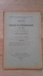 Recueil Mensual - Revista ESCUELA Antropología De París - 1901 - N º 3