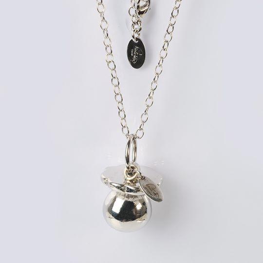 COLLIER EN silver 925 AVEC PENDENTIF SUCETTE BOLA DE GROSSESSE BY MARIE IELPO