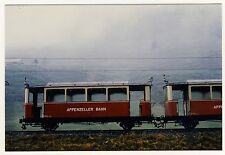 Schweiz APPENZELLER BAHN Appenzell / Train Railroad * Vintage Amateur Photo 1978