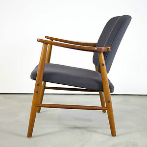 Danish modern teak arm chair w new fabric 60s denmark for Designer chairs from the 60s