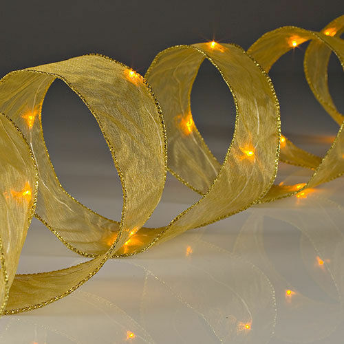 LED Lighted Ribbon 7ft.//20 LED Lights4 Color ChoicesGersonMIB