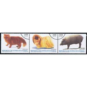 Äquatorialguinea Briefmarken Äquatorial-guinea Edifil 196/198 Fauna Tiere Hund Katze Überlastung Der Probe FöRderung Der Produktion Von KöRperflüSsigkeit Und Speichel