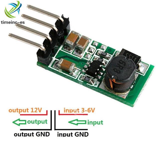 DC 3.3V 3.7V 5V 6V to 12V Step-up Power Supply Boost Voltage Regulator Converter