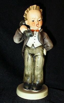 "#Hummel Figurine #124/0 Hello TMK4  6"" Tall Boy on Telephone #collectible #decor"