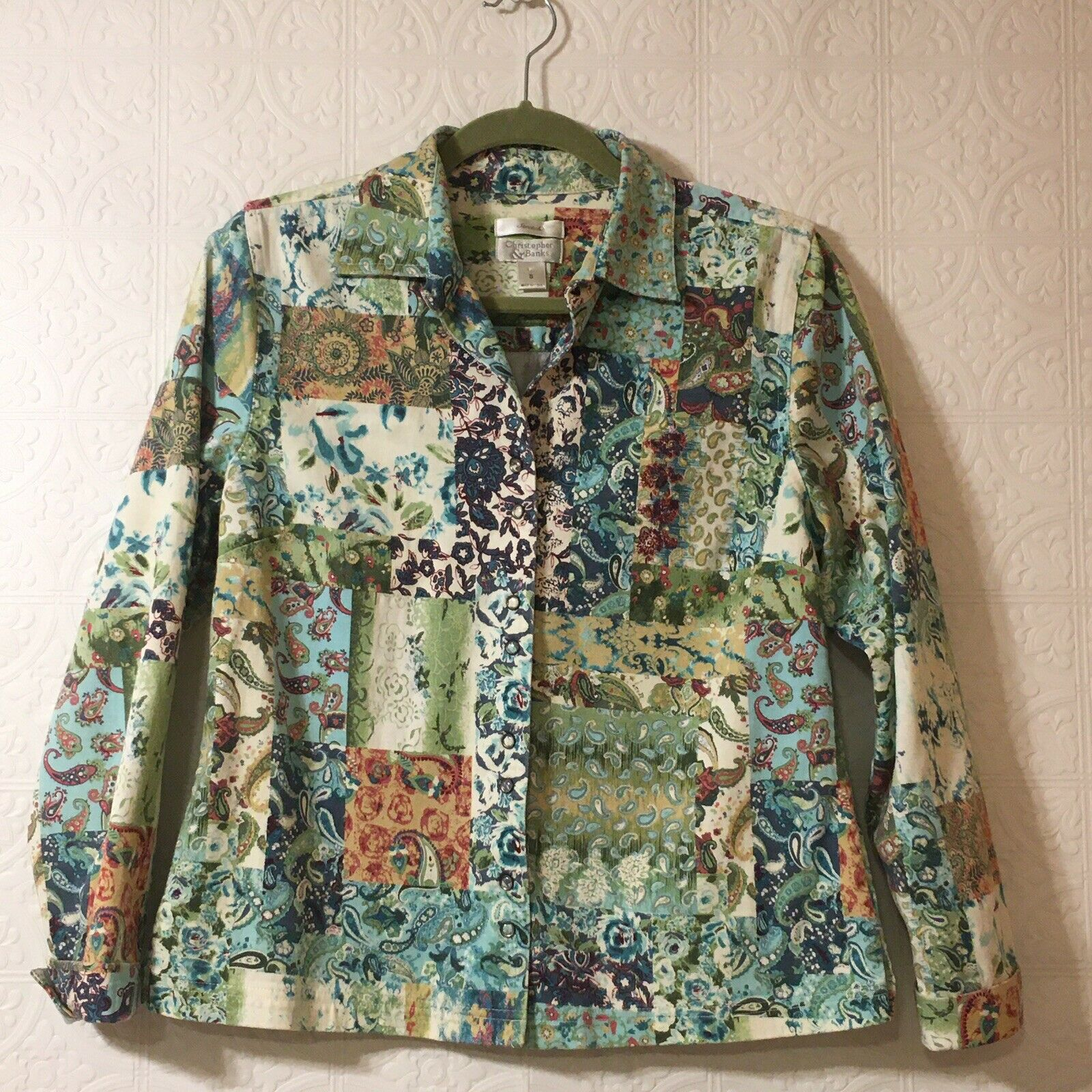 CHRISTOPHER & BANKS Jacket Women's Size Small Pea… - image 3