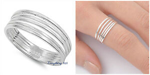 Sterling-Silver-925-PRETTY-MULTI-BAND-IN-ONE-DESIGN-SILVER-RING-7MM-SIZES-5-10