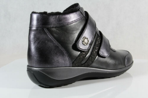 Leather Stuppy Ankle New Winter silver Women's Boots Black 9891 wggIrfqp