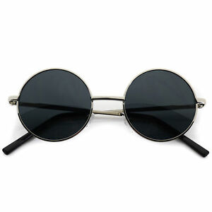 4d01d210d1a Image is loading John-Lennon-Sunglasses-Round-Hippie-Retro-Silver-Frame-