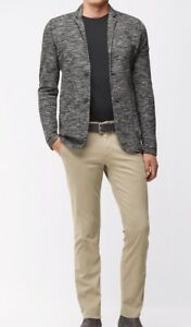 Hugo Boss Slim-fit casual chinos in brushed stretch cotton Grey      RRP £89