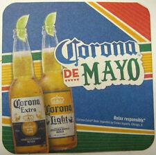 CORONA DE MAYO, CINCO Beer COASTER, Mat, Cerveceria Modelo, MEXICO, 2015 issue